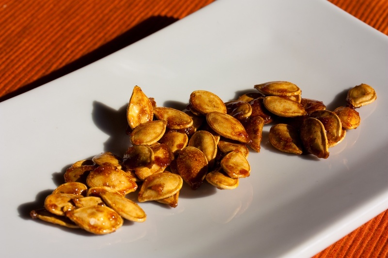 Candied Spiced Pumpkin Seeds