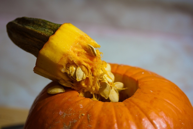 Pumpkin with stem removed