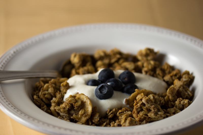 Vegan Banana Walnut Granola