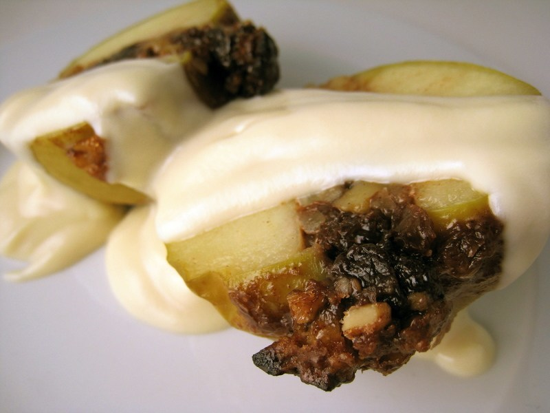 Vegan Bourbon Baked Apples