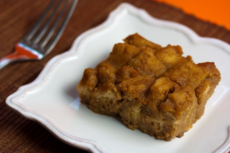 Vegan Pumpkin Bourbon Bread Pudding
