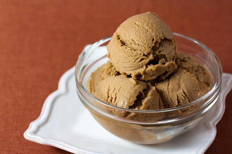 Vegan Hazelnut Coffee Ice Cream