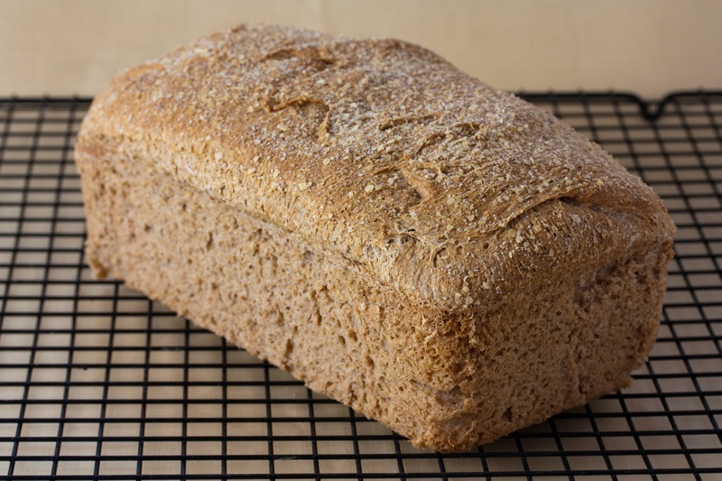 No Knead Whole Wheat Sandwich Bread Loaf
