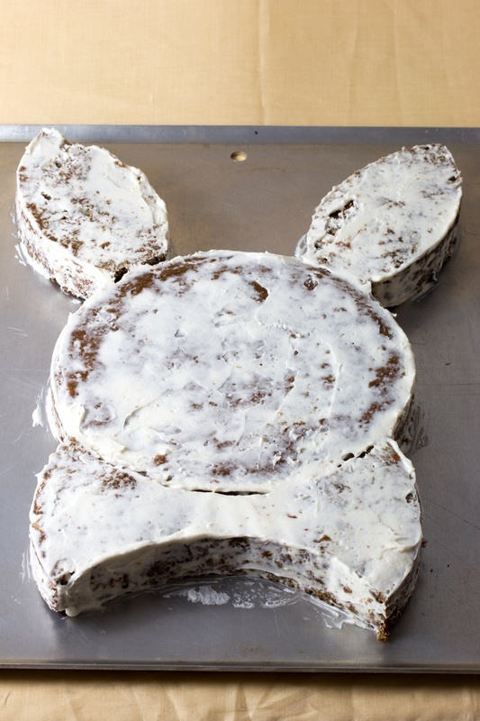 Crumb coat the cake