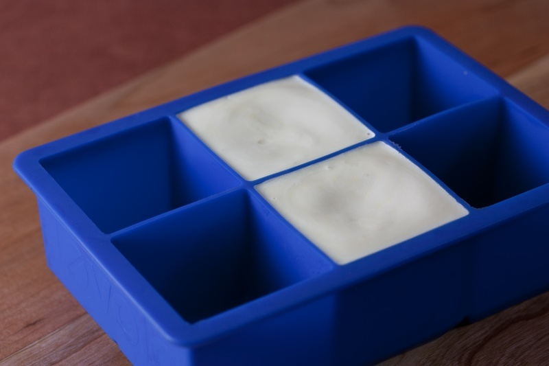 Vegan Butter in an ice cube tray
