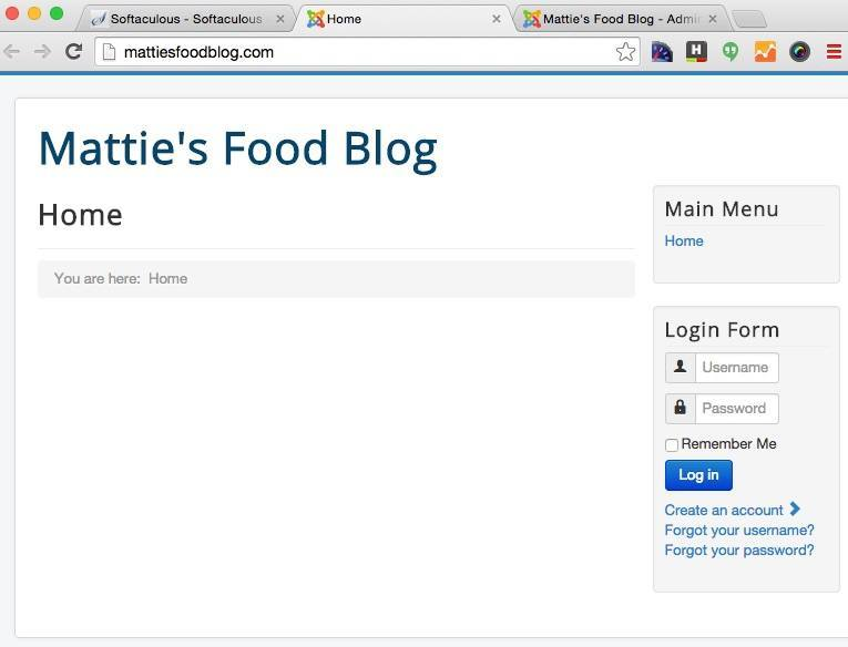 How to start a food blog - Joomla url